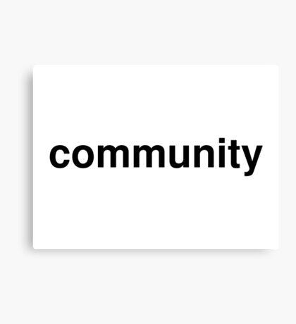community Canvas Print