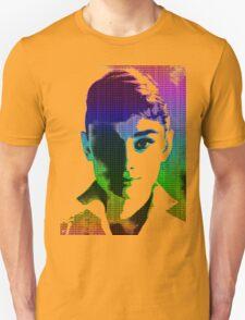 Audrey Hepburn White Shirt Portrait Multicolour  Unisex T-Shirt