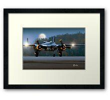 B-25 at Night Framed Print