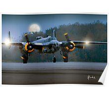 B-25 at Night Poster
