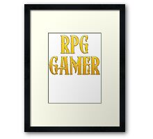 RPG Gamer Role Playing Gamer T Shirt Framed Print