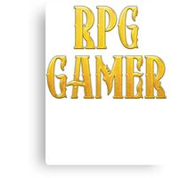 RPG Gamer Role Playing Gamer T Shirt Canvas Print