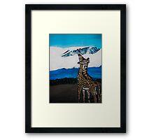 Love at Kilimanjaro Framed Print