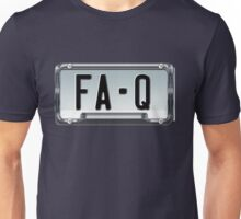SHINY BLUE/GOLD LICENSE PLATE HOLDER FA-Q Unisex T-Shirt