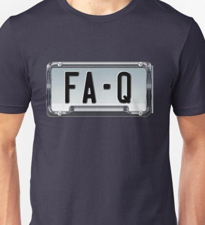 SHINY BLUE/GOLD LICENSE PLATE HOLDER FA-Q Unisex T-Shirt