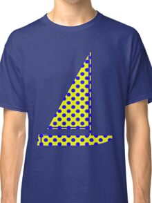 Yellow With Blue Polka Dots Classic T-Shirt