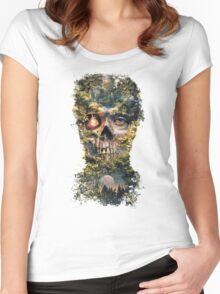 The Gatekeeper Dark Surrealism Art Women's Fitted Scoop T-Shirt