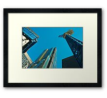 City Blue  Framed Print