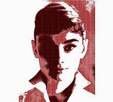 Audrey Hepburn White Shirt Portrait Red  Unisex T-Shirt