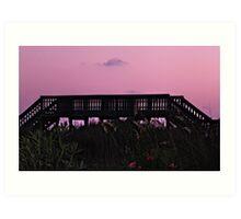 Sunset near ocean  Art Print