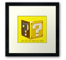 ?Block Framed Print