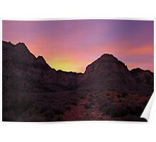 Red Rock Canyon Sunset Poster
