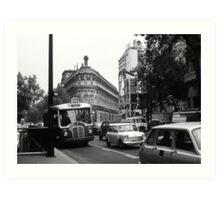 Boulevard Haussman (Paris) Art Print