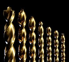Gold Drill Bits by Erik Watts