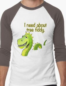 Loch Ness Monster Tree Fiddy Men's Baseball ¾ T-Shirt
