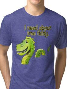 Loch Ness Monster Tree Fiddy Tri-blend T-Shirt