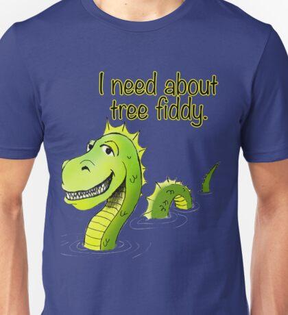 Loch Ness Monster Tree Fiddy Unisex T-Shirt