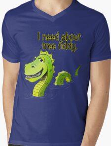 Loch Ness Monster Tree Fiddy Mens V-Neck T-Shirt