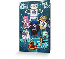 Adventure Time x Space Jam  Greeting Card