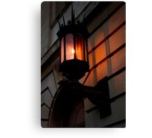 late afternoon sunlit lamp Canvas Print