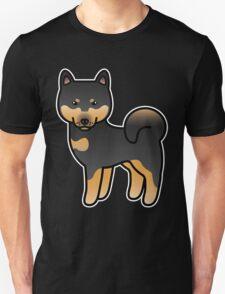 Black And Tan Shiba Inu Dog Cartoon T-Shirt