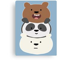 Bear Stack  Canvas Print
