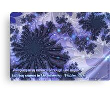 Joy Comes in the Morning Card Canvas Print