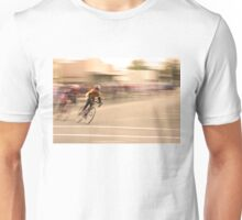 Cyclists Coming Around a Curve and into the Straightaway Unisex T-Shirt