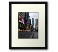 Walking Through the Heart of American Culture Framed Print