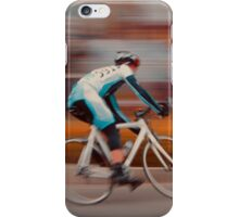 A Lone Cyclist Heads into the Final Lap iPhone Case/Skin