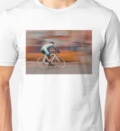 A Lone Cyclist Heads into the Final Lap Unisex T-Shirt