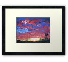 Sunset Fire Framed Print