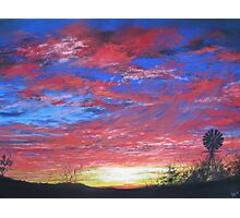 Sunset Fire Photographic Print