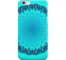 Blue Symmetry 3 iPhone Case/Skin