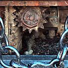 Crown Wheel and Pinion, Steam Train, Glenorchy, Tasmania. by Philip Hallam