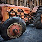 Case Tractor, Nubeena, Tasmania. by Philip Hallam