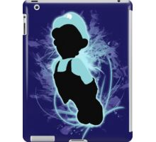 Super Smash Bros. Light Blue Luigi Silhouette iPad Case/Skin