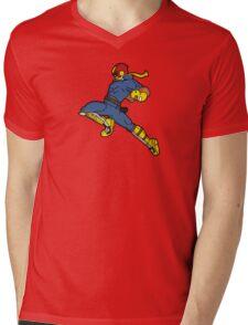 Knee of Justice Mens V-Neck T-Shirt