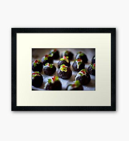 Mini Christmas Puddings Framed Print