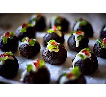 Mini Christmas Puddings Photographic Print