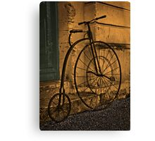 Penny Farthing, Oamaru, New Zealand. Canvas Print