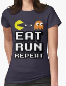 Eat, Run, Repeat Womens Fitted T-Shirt
