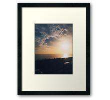 Brighton Golden Sunset Framed Print
