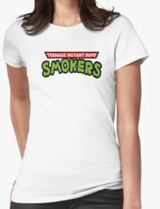 Teenage Mutant Dope Smokers Womens Fitted T-Shirt