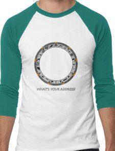 OmniGate (What's Your Address? version) Men's Baseball ¾ T-Shirt