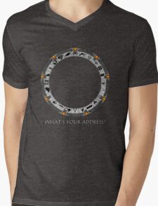 OmniGate (What's Your Address? version) Mens V-Neck T-Shirt