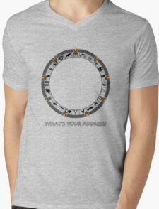 OmniGate (What's Your Address? version) Mens V-Neck T-Shirt