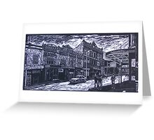 King Street from Wilson, Newtown,  Greeting Card