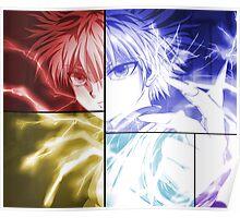 hunter x hunter killua assassin anime manga shirt Poster