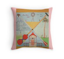 Moonrise Kingdom - Wes Anderson Painting Throw Pillow